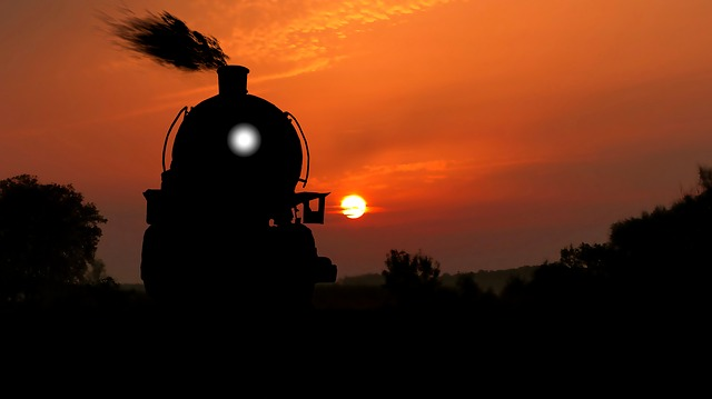 Steam Train Sunset